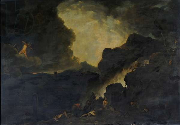 The Slaughter of the Children of Niobe (oil on canvas)