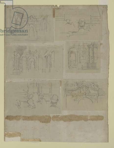 Several Studies (pencil on paper)