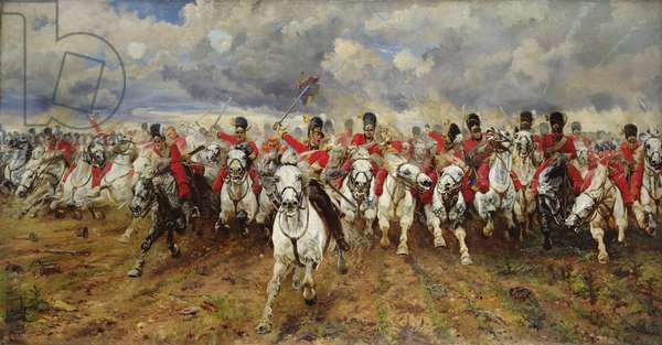 Scotland For Ever! 1881 (oil on canvas)