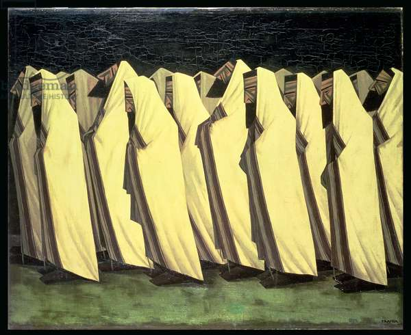 The Day of Atonement, 1919 (oil on canvas)