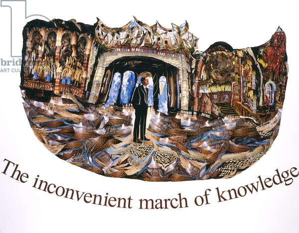 The inconvenient march of knowledge, 2009 (photocollage)