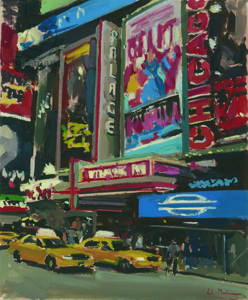 Bright Lights, Times Square, 2012, (oil on canvas)