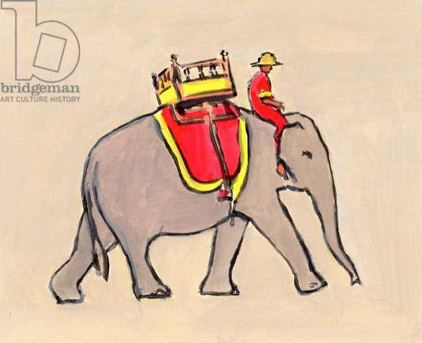 Little Elephant II, 2012, (acrylic on card)