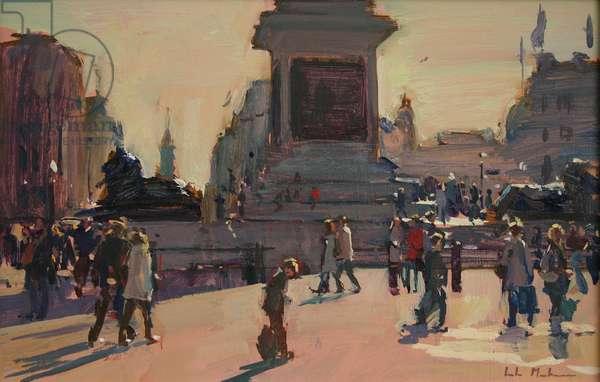 Trafalgar Square, 2009, (oil on board)