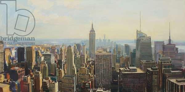 Manhattan skyline, 2014, (oil on canvas)