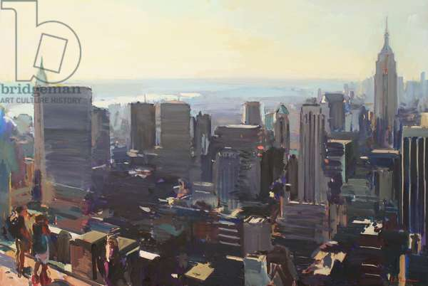 Manhattan from the Rockefeller Building, 2012, (oil on canvas)