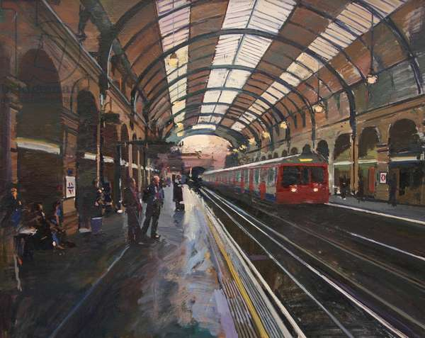 Notting Hill Gate Underground Station, 2009, (oil on canvas)
