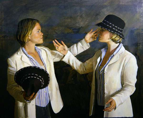 'Do I stand there?', from Twelfth Night Act V scene (i), 2003 (oil on canvas)