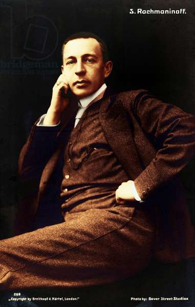 Sergey Vassilievich Rachmaninov at  young age. Russian pianist and composer (1873-1943).