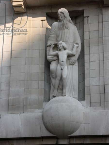Prospero and Ariel sculptural