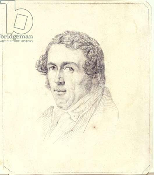 Self Portrait, c.1825 (pencil on yellow paper)