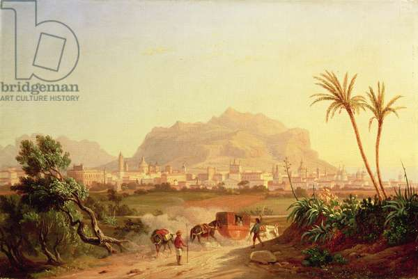View of Palermo, c.1831 (oil on canvas)