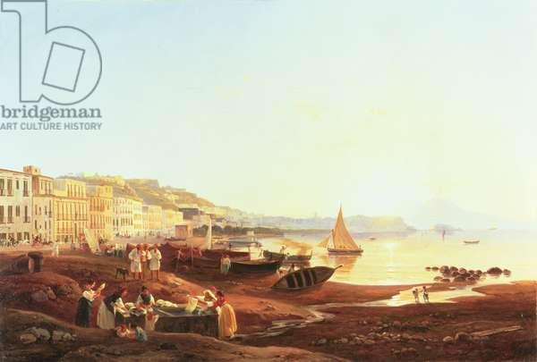 Mergellina Harbour, c.1831 (oil on canvas)