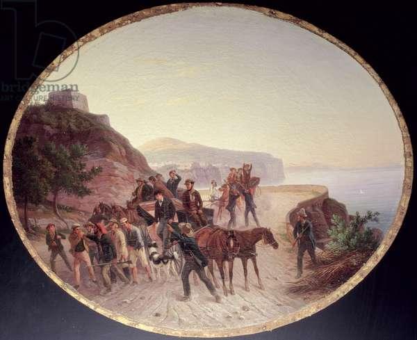 The Capture of Guido Edmondo, c.1864 (oil on canvas on wood)