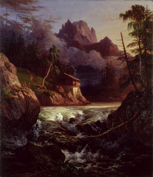 Mill in the Liebethal Region, 1820 (oil on canvas)