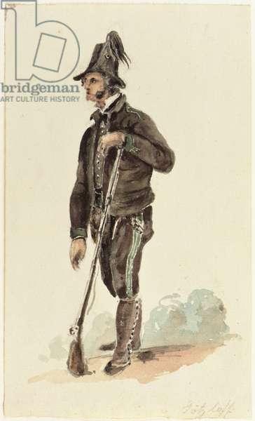 Italian Hunter, 1830 (w/c on paper)