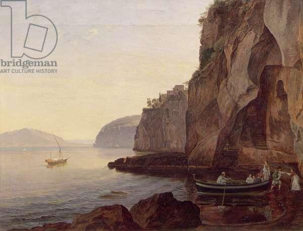 Cocumella near Sorrento, 1827 (oil on canvas)