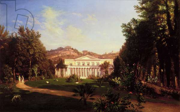 Villa Pignatella, Riviera di Chiaia, Naples, c.1845 (oil on canvas)