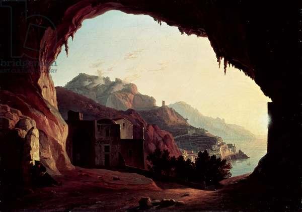 Grotto near Amalfi, c.1828 (oil on canvas)