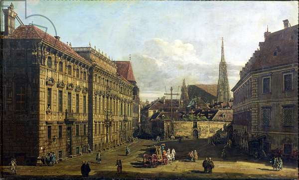 A view of the Lobkowicz Palace in Vienna, 1760-67 (oil on canvas)