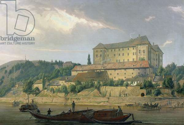 View of Nelahozeves from the River Vltava, 1841 (oil on canvas)