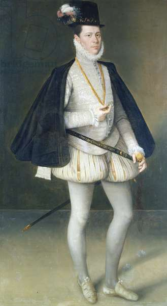 Portrait of Fernando de Aragon, 5th Duke of Villahermosa (1546-92) after 1582 (oil on canvas)