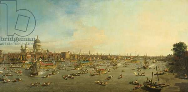 The River Thames with St. Paul's Cathedral on Lord Mayor's Day, c.1747-8 (oil on canvas)