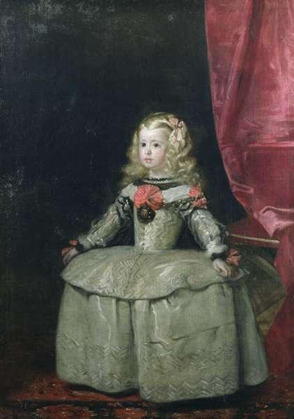 Portrait of the Infanta Margarita Teresa of Spain (1651-73) daughter of Philip IV, c.1656 (oil on canvas)