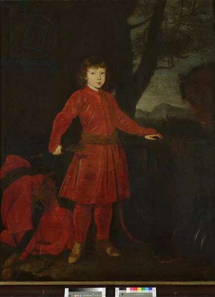 Portrait of Count Adam Erdman Zrinsky, when a boy (oil on canvas)