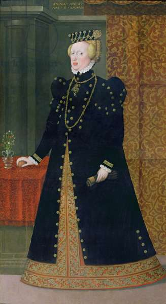 Portrait of Anna, Archduchess of Austria and Duchess of Bavaria (1528-90) daughter of Ferdinand I and wife of Albrecht of Bavaria, 1563 (oil on canvas)