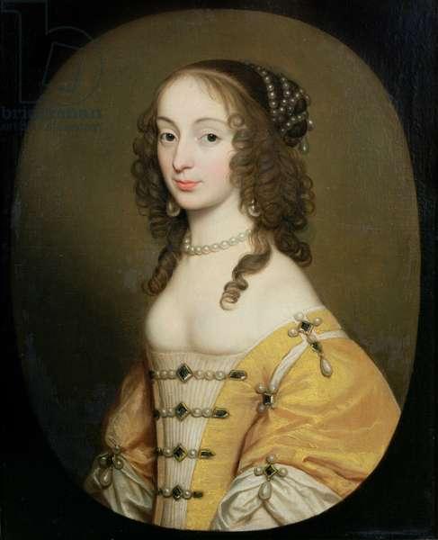 Portrait of Louise Hollandine, Princess Palatinate (oil on canvas)