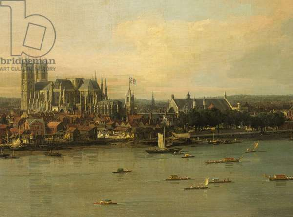 View of the Thames and Westminster Bridge, c.1746/7 (oil on canvas) (detail of 464794)