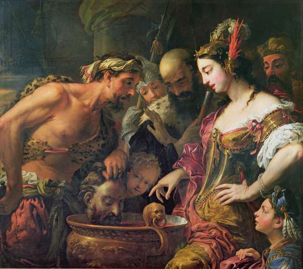 Queen Tomyris with the Head of Cyrus the Great (oil on canvas)