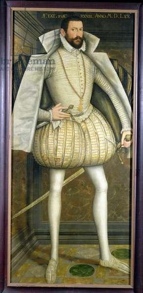 Portrait of Ladislav III Baron Lobkowicz (c.1537-1609) 1570 (oil on canvas)