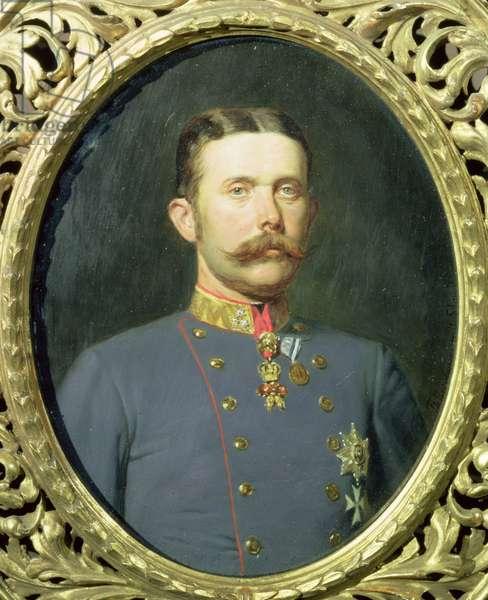 Portrait of Archduke Franz Ferdinand of Austria (1863-1914) nephew of the Emperor Franz Joseph (oil on canvas)