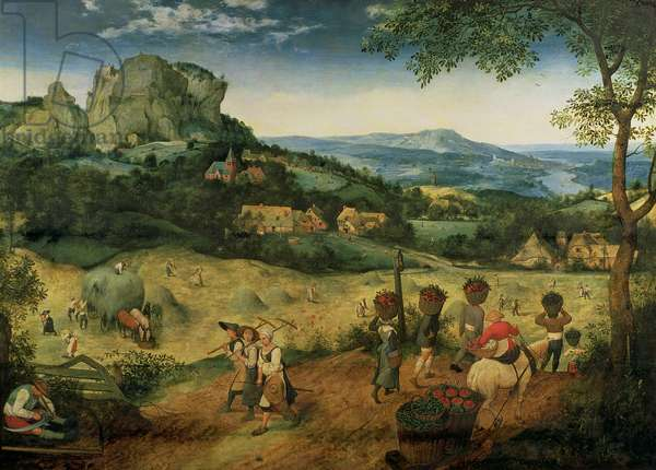 Haymaking (June/ July), 1565 (oil on panel)