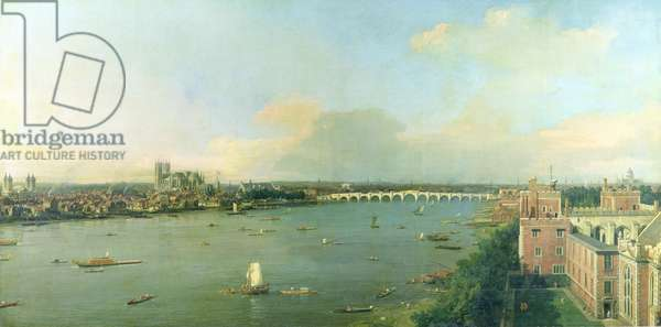 View of the Thames and Westminster Bridge, c.1746/7 (oil on canvas) (for details see 81971-73)