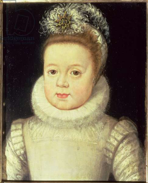 Portrait of a child, said to be Louis XIII (1601-43), c.1604 (oil on canvas)