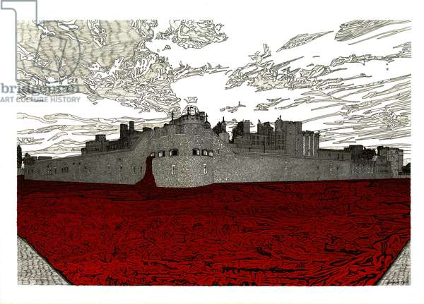 Tower of London, 2015 (pen and ink)