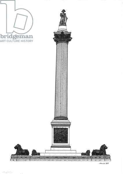 Nelson's Column, 2016 (pen and ink)