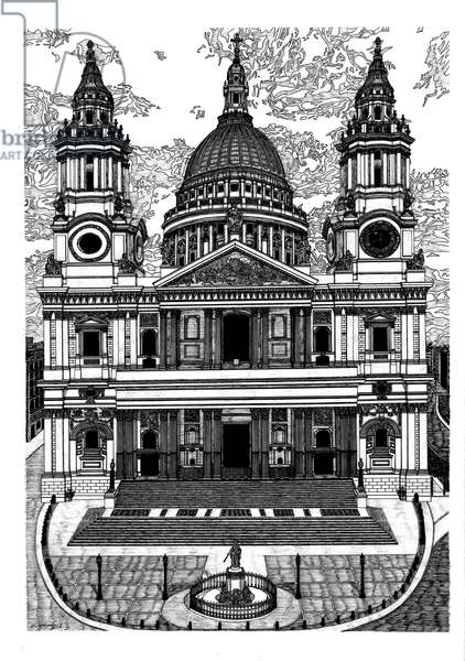 St. Paul's Cathedral, 2016 (pen and ink)