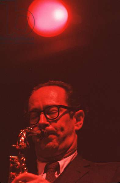 Paul Desmond playing saxophone