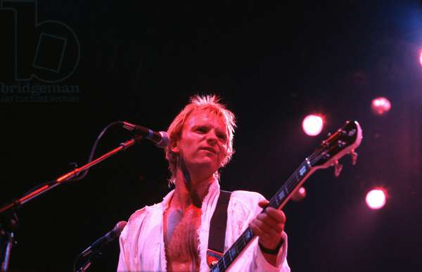 Sting performing in concert