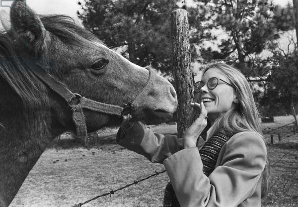 Sissy Spacek with horse
