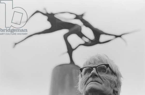 Leon Underwood, 1969 (b/w photo)