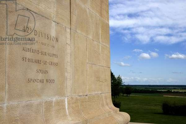 France, Champagne-Ardenne, Marne (51), Sommepy-Tahure (Sommepy Tahure). American memorial of the battles of Champagne of the american army. Photography Florent Lamontagne