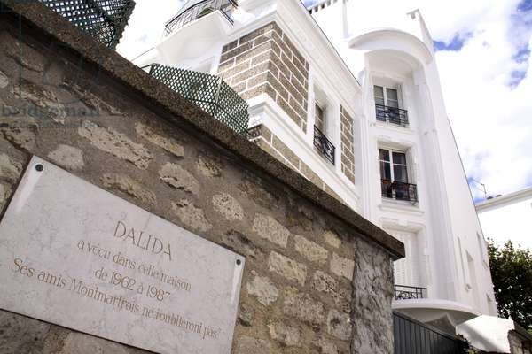 Dalida House (1933-1987), famous french singer and actress. Her house in Paris in Montmartre, rue d'Orchampt. Photography Florent Lamontagne