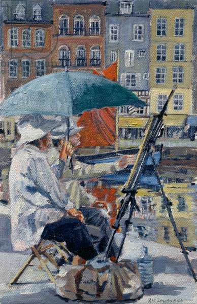 Painter and his Wife, Honfleur (oil on canvas)