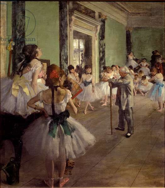 The Dancing Class, 1873-1876 (oil on canvas)