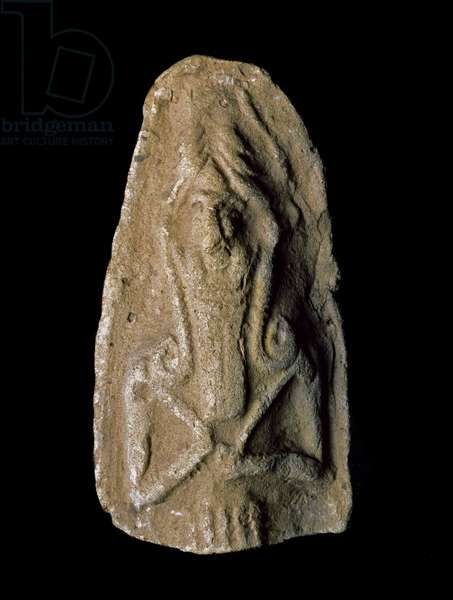Sumerian civilization: figurine of god warrior. Terracotta sculpture. Dim. 9 cm Neo-Sumerian period (between 2093 and 2004 BC) From the vicinity of the site of Ur. Baghdad, National Iraq Museum